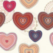 Valentine seamless hearts pattern — Stock Photo #8916311