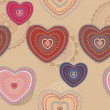 Valentine seamless hearts pattern — Stock Photo