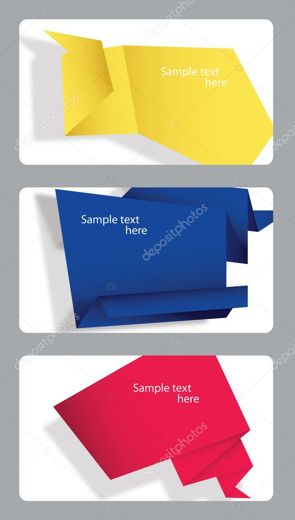 Set of speech bubbles incorporated in gift cards. — Stock Photo #8946774