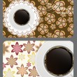 Set of nature coffee gift cards vector illustration — Stock Photo #9016225