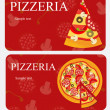 Pizza Menu Template, vector illustration — Stock Photo