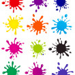 Vector set of colored blots on the white background — Stock Photo