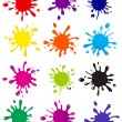 Vector set of colored blots on the white background — Foto Stock