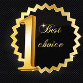 Vector best choice vector label. — Stock Photo