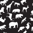 Wild animals seamless pattern background — Stock Photo