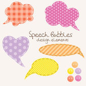Set of different speech bubbles, design elements — Stock Photo