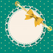Vector greeting card with frame and bow. Space for your text or — Stock Photo