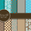 Set of beaautiful vector paper for scrapbook - Stockfoto