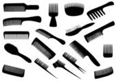Vector hairdresser tools isolated on white — Stock Photo