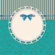 Vintage frame with bow vector illustration — Stock Photo