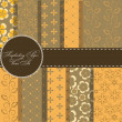 set of beaautiful vector paper for scrapbook — Stock Photo #9194174