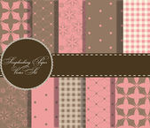 Set of beaautiful vector paper for scrapbook — Stockfoto