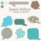 Set of different speech bubbles, design elements — Stock Photo