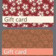 Abstract beautiful set of gift card design, vector illustration. — Stockfoto