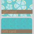 Abstract beautiful set of gift card design, vector illustration. — Foto de Stock