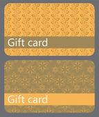 Abstraktní krásná sada dárkových karet design, vektorové ilustrace. — Stock fotografie
