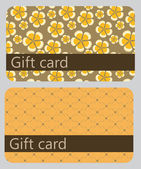 Abstract beautiful set of gift card design, vector illustration. — Stock Photo
