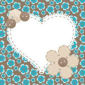 Wektor rama serce miłości, piękna ilustracja może — Zdjęcie stockowe