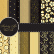 Foto de Stock  : Set of beaautiful vector gold and black paper for scrapbook