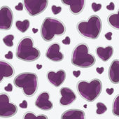 Valentine seamless hearts pattern background — Stock Photo