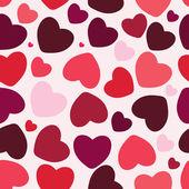 バレンタインのシームレスな心のパターンの背景 — ストック写真