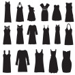 Set of dresses isolated on white background — 图库照片