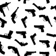 Vector guns set seamless pattern - Stock Photo