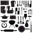 Stock Photo: Vector illustration of kitchen tools for cooking
