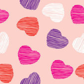 Heart seamless pattern vector love background — Stock Photo