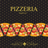 Pizza Menu Template, vector illustration — Foto Stock