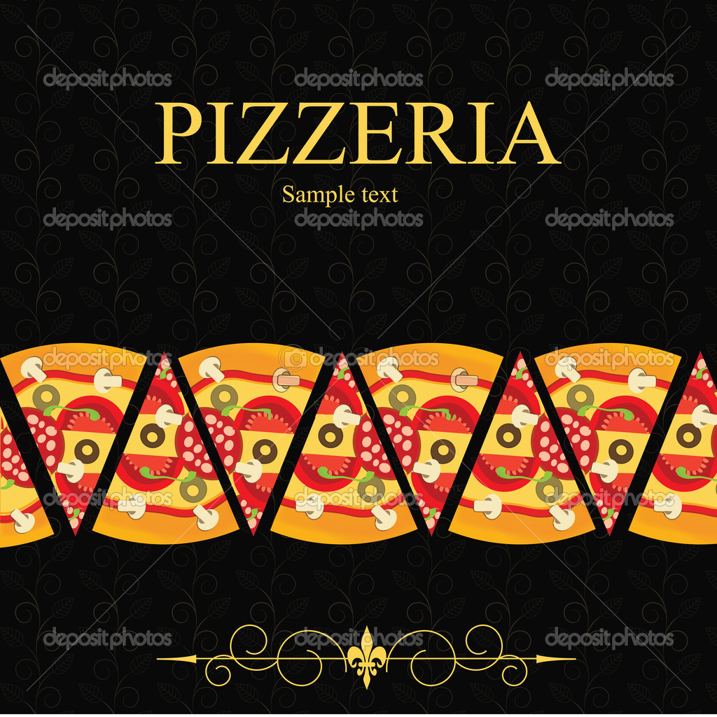 Pizza Menu Template, vector illustration — Stock Photo #9386734