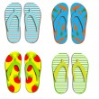 Set flip flops isolated on white background — ストック写真