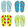 Set flip flops isolated on white background — Stock Photo