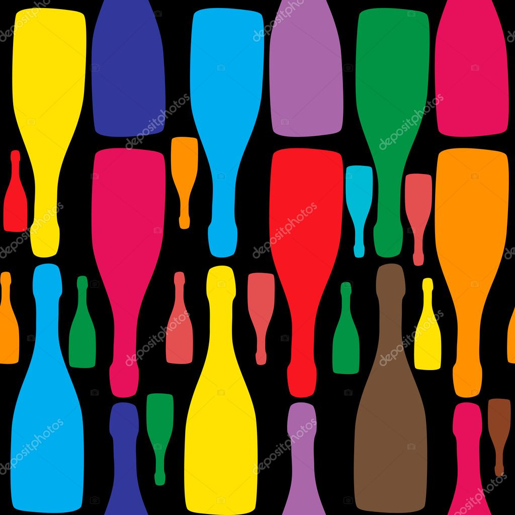 Vector background with bottles. Good for restaurant or bar menu design — Stock Photo #9473105