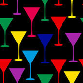 Martini glass seamless pattern vector illustration — Stock Photo