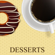 Vector dessert menu — Foto Stock