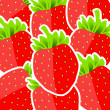 Background from strawberries vector illustration — Stock Photo