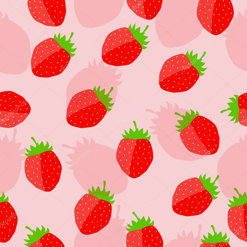 Twitter Backgrounds Strawberries Strawberry Background Vector