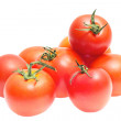 Red tomatoes isolated on a white background — 图库照片