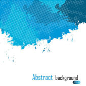 Blue abstract paint splashes illustration. Vector background wit — Stock Photo