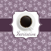 Coffee invitation background — Zdjęcie stockowe