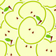 Apple vector illustration seamless pattern — Stock Photo