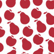 Vector seamless pattern of fruit - apple and pear — Stock Photo