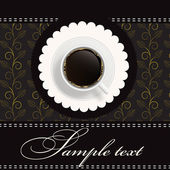 Coffee invitation background — Stock Photo