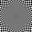 Black and white hypnotic background. - Zdjęcie stockowe