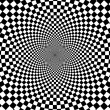 Black and white hypnotic background. - Stockfoto