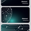 Busitess card templates with Circuit board — Foto Stock