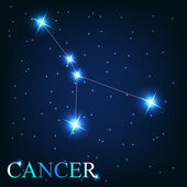 Vector of the cancer zodiac sign of the beautiful bright stars o — 图库照片