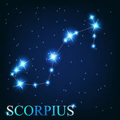 Vector of the scorpius zodiac sign of the beautiful bright stars — Stock Photo