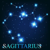 Vector of the sagittarius zodiac sign of the beautiful bright st — ストック写真